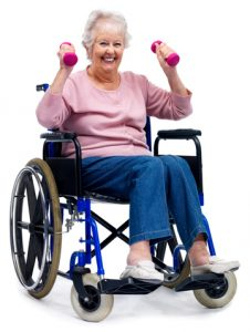 weights woman in wheelchair